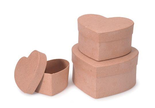 2 Pack Darice Paper Mache Box Set Square 8,9 and 10 Inches