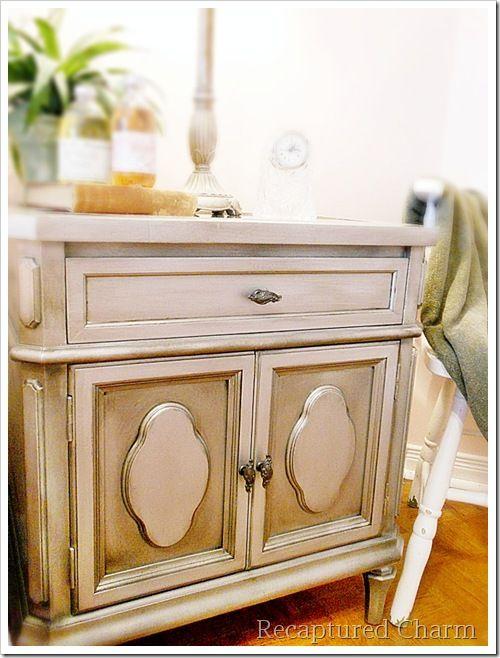 Metallic furniture paint treatment