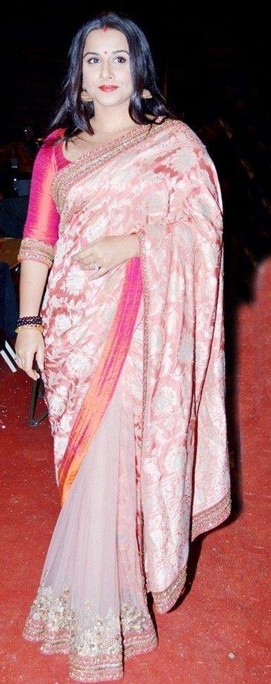 Vidya BAlan in Pink HAlf Saree Model Saree