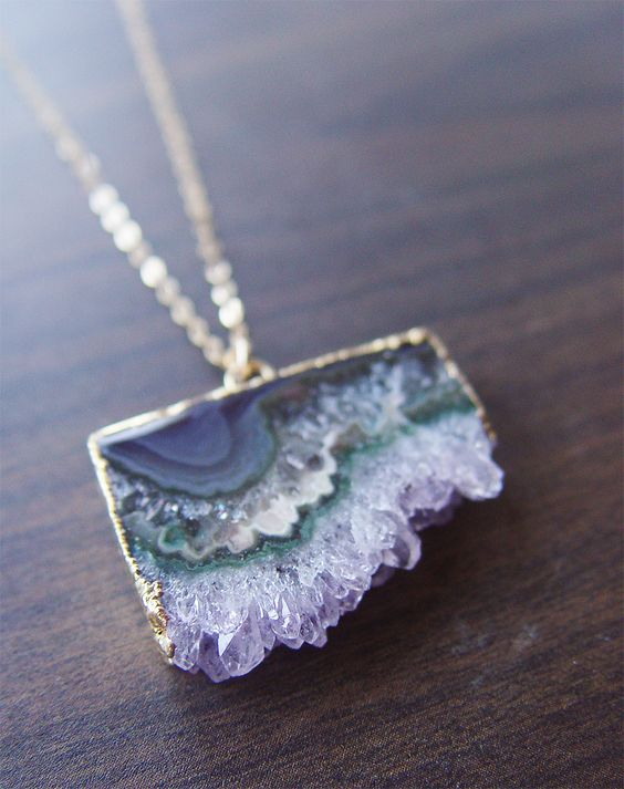 "friedasophiejewelry: "" Green Stalactite Gold Necklace OOAK by Friedasophie https://www.etsy.com/listing/479614728/green-stalactite-gold-necklace-ooak?ref=listing-shop-header-2 """