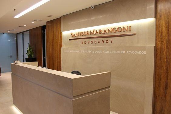 decoracao de interiores para escritorios : decoracao de interiores para escritorios:Recepção – projeto corporativo de RF Design de Interiores