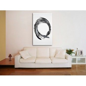 Ring of the Espor - black and white contemporary abstract