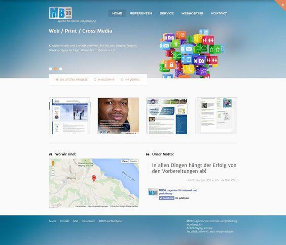 Website MB30 - agentur für internet und gestaltung: www.mb30.de