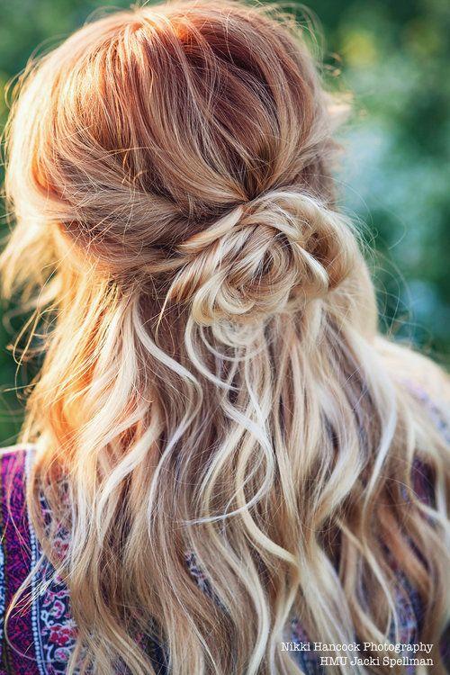 Half Up Do Rosette By Jacki Spellman Copper Dimensional Hair Color