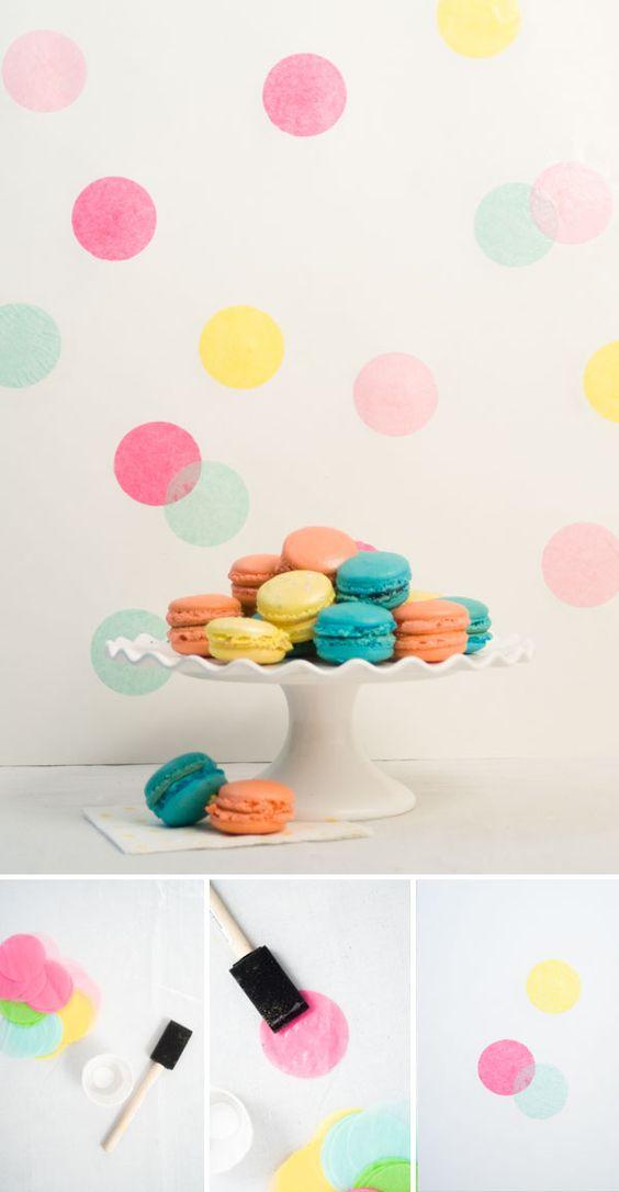 Confetti Sunshine: DIY Confetti Backdrop    wenn das mal nicht wie a* auf eimer passt?!:)