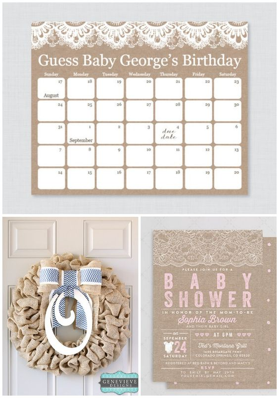 baby showers baby showers burlap baby babyshower due date game ideas
