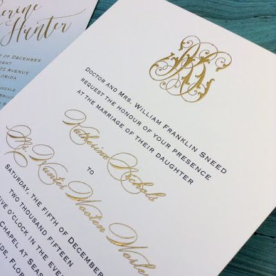 Fresh Ink : Style Sentiment & Stationery in the South: Katherine Sneed and Hunter Worley Wedding Invitations