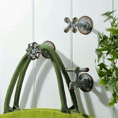 3 piece Two's Company Vintage Faucet Wall Hooks Farmhouse Decor