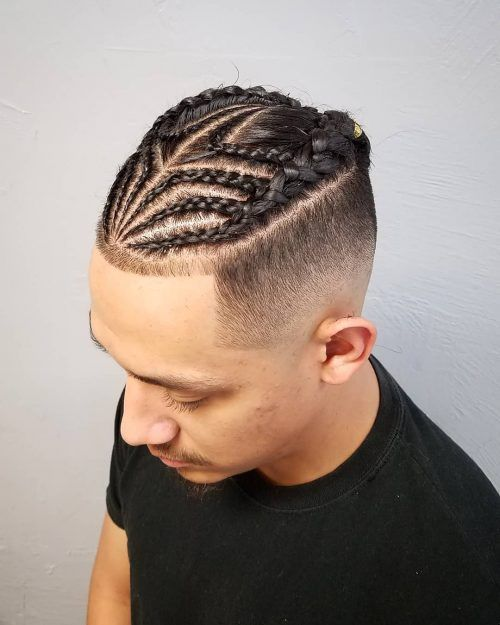28 Braids For Men Cool Man Braid Hairstyles For Guys Mens Braids Hairstyles Braids With Fade Hair Styles