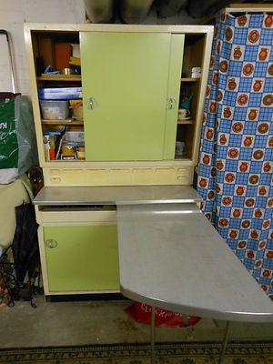 alter Küchenschrank mit Tich , 50er / 60er Jahre, unrestauriert rar selten antik   eBay