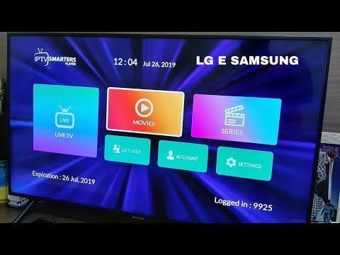 Melhor Aplicativo Iptv Na Smart Samsung E Lg 2019 Youtube