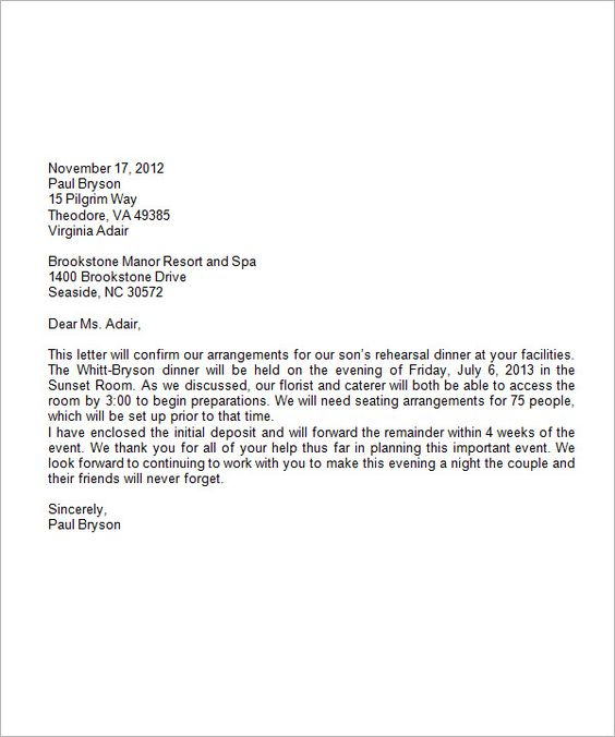 Formal Business Letter Format Download Free Documents Word