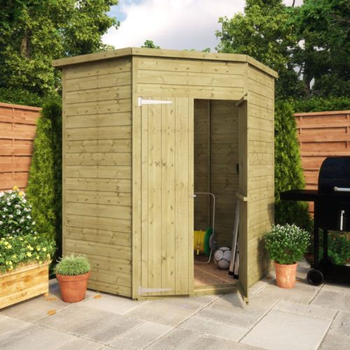 Details About 5 X 5 Pressure Treated Windowless Garden Corner Shed W Double Door Corner Shed With Images Corner Sheds Shed Double Doors