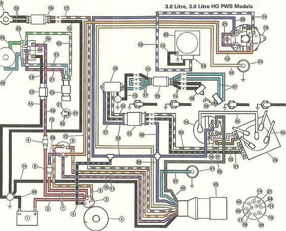 volvo penta wiring diagram & \