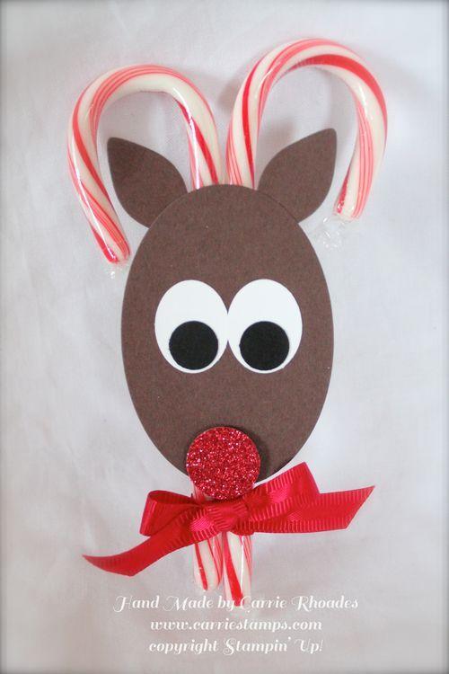 Stampin' Up! Reindeer Candy Cane Treat Holder