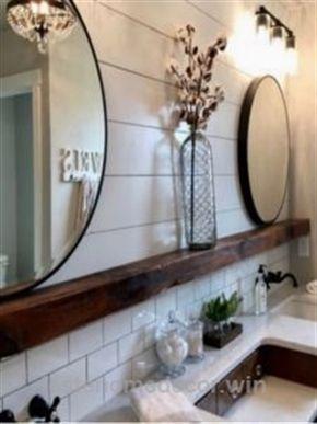 Shiplap Bathroom Farmhouse Bathroom Rustic Bathroom Subway Tile Shiplap Bathroom Bathroom Styling Amazing Bathrooms