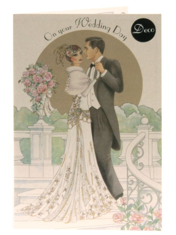 High Quality Images For Art Deco Wedding Invitations Clinton Cards