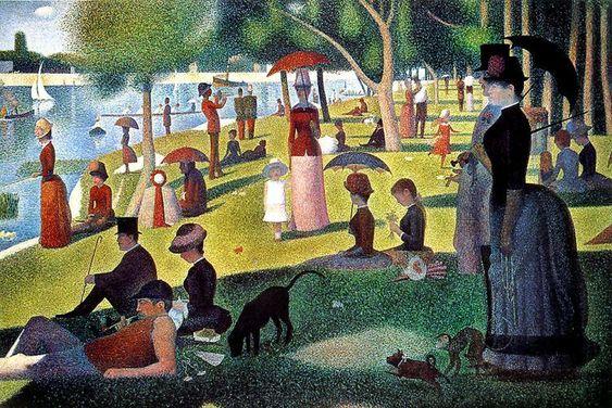 Georges Seurat: Un dimanche après-midi à l'Île de la Grande Jatte English: A Sunday Afternoon on the Island of La Grande Jatte Date1884-1886
