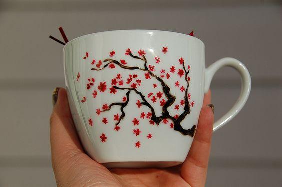 Cherry Blossom Mug   Flickr - Photo Sharing!