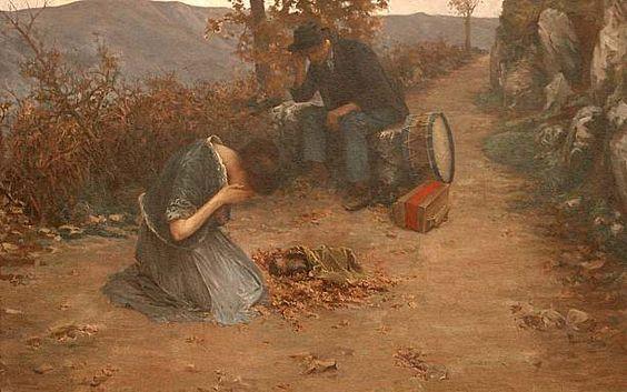 Italian Oil on Canvas by Pennacchetti