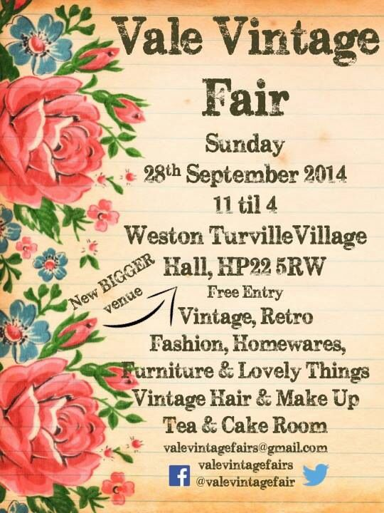 Vale Vintage Fair - 28th September 2014 11-4, Weston Turville Village Hall