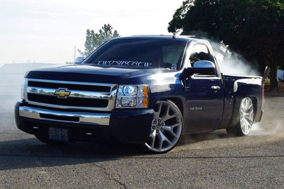 Chevy Single Cab Dropped >> Chevy silverado regular cab static dropped on 24s replicas | Silverados. | Pinterest | Chevy and ...