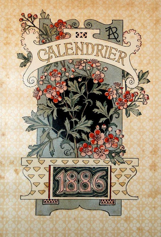 Eugène Grasset | Cover | Dessins pour le calendrier de La Belle Jardinière (1896):