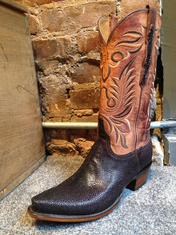 Space Cowboy Boots NYC - Coffee Shaved Stingray, $1,475.00 (http ...