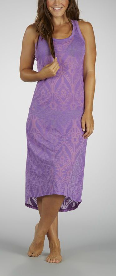 Grape Sorbet Damask Coverup Dress