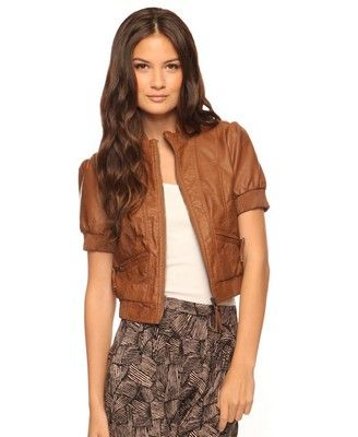 I need a new faux leather jacket and this one is a hipper version of my current faux leather bomber.