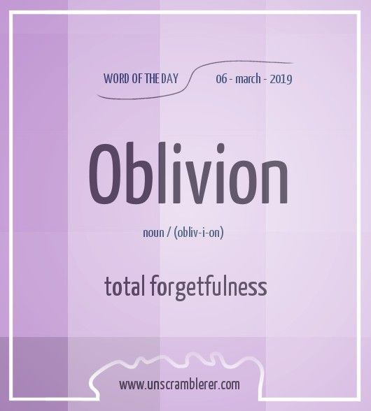 Oblivion Interesting English Words Learn English Words Good Vocabulary Words