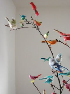 gift wrapping birds diy tree