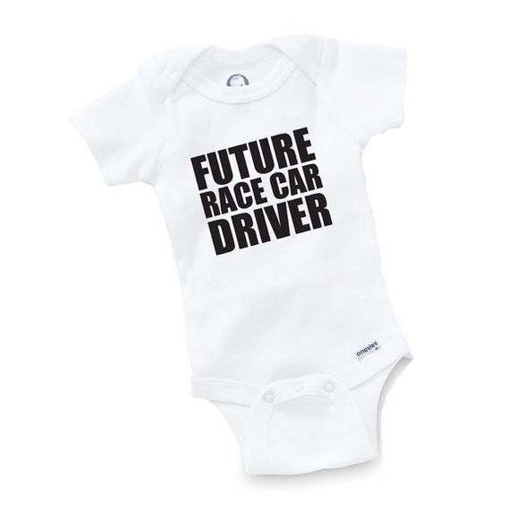 Future Race Car Driver Onesie Bodysuit Baby Shower Gift Funny Geek Nerd Cute Racing Racer Truck on Etsy, $8.99