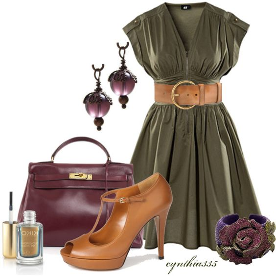 Olive and Plum, created by cynthia335 on Polyvore