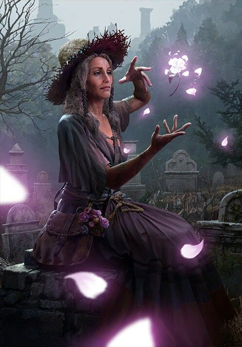 Fantasy Woman Witch Art