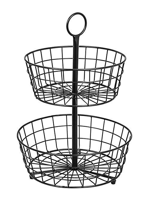 Birdrock Home 2 Tier Wire Fruit Basket Wire Fruit Basket Tiered Fruit Basket Fruit Basket