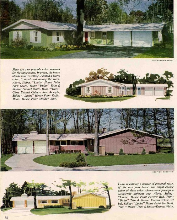 Exterior Colors For 1960 Houses Ranch Homes Exterior House Colors And Colors