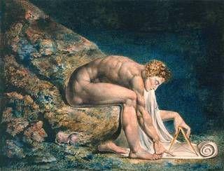6. William Blake, Newton, 1795 m 0.46 x 0.60 stampa acquarellata su carta, londra Tate Gallery