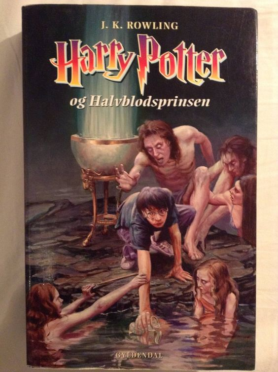 Book Covered In Blood : Danish harry potter and the half blood prince book cover