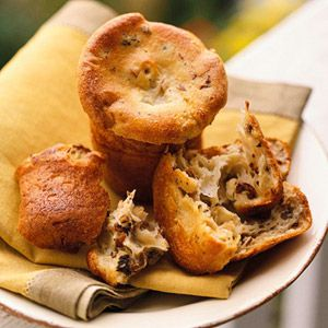 These popovers contain just enough shallots to lend flavor but not ...