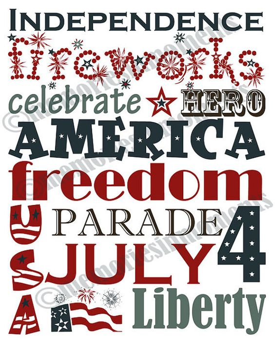4th of July - ordered graphic off etsy...follow link {put mine in white frame on piano...cute}