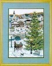 "Christmas Village Cross Stitch Kit - 14 Count - 10"" x 14"""