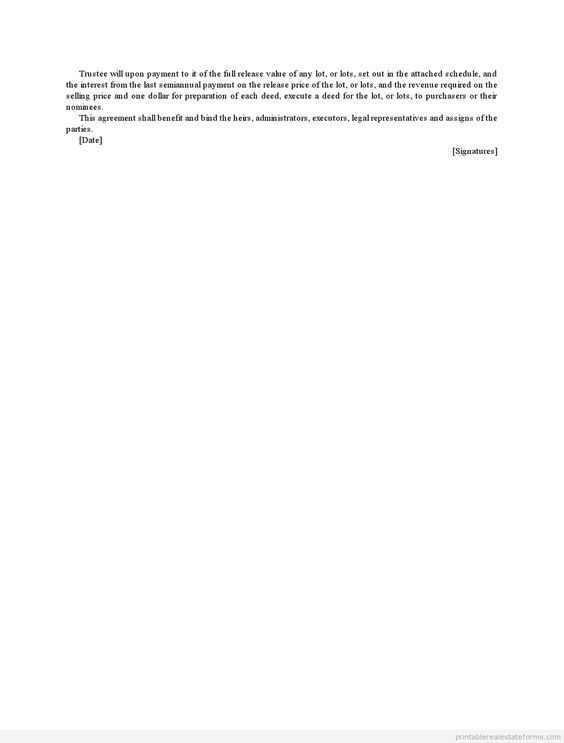 Printable Closing Disclosure Conditional Release Template