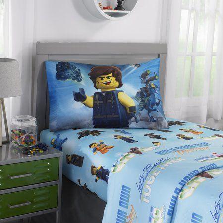 The Lego Movie 2 Kids Bedding Sheet Set Let S Build Together 1