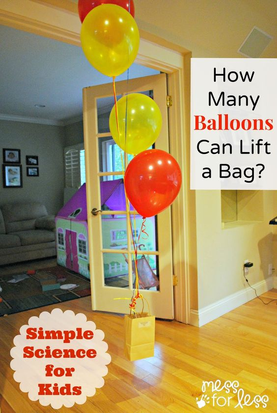 Simple Science - How Many Balloons Can Lift a Bag   Bags ...