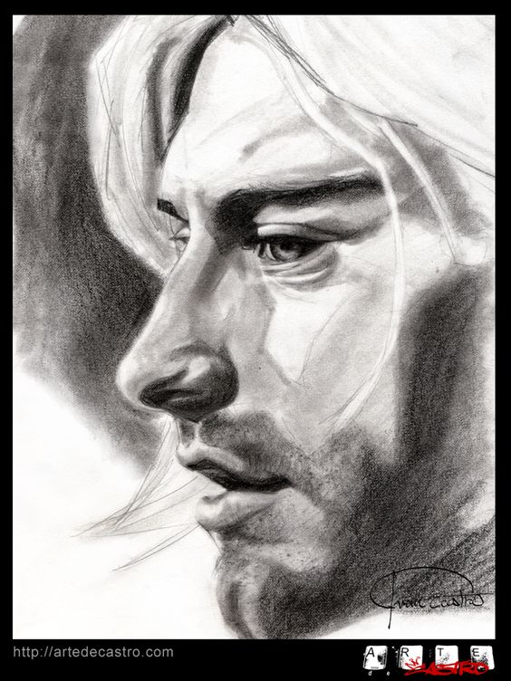 Portrait of Kurt Cobain I did in graphite a while back.