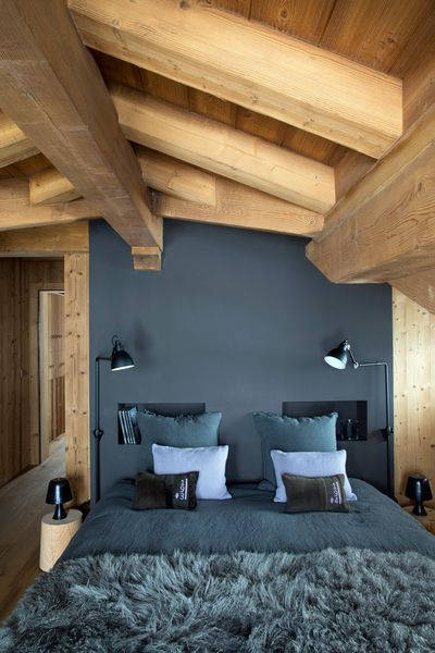chambre sous combles d co belle chalets et rustique. Black Bedroom Furniture Sets. Home Design Ideas