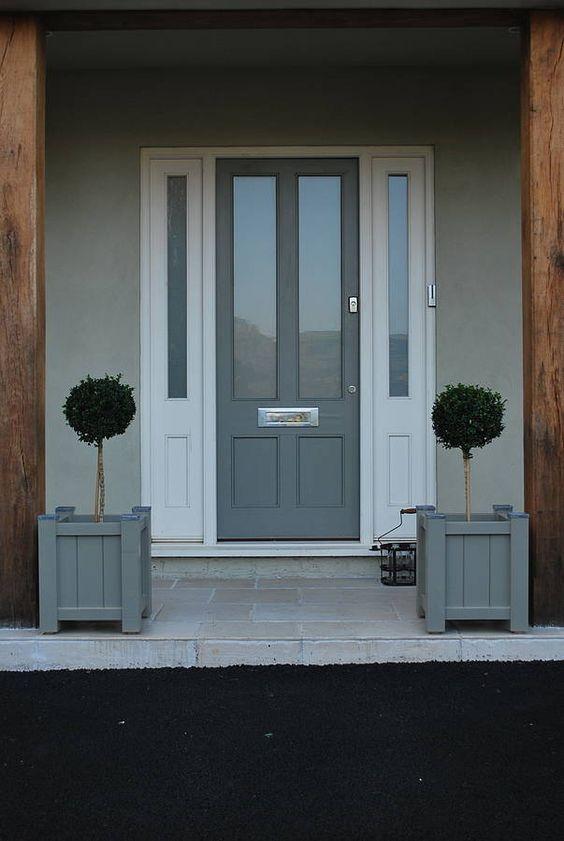 Painted garden planter sarratt range gardens grey and for Victorian front door colours