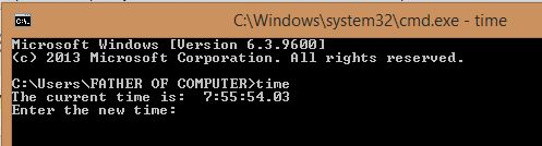 Change Date and Time Using Ms- Dos. ~ ANSMACHINE
