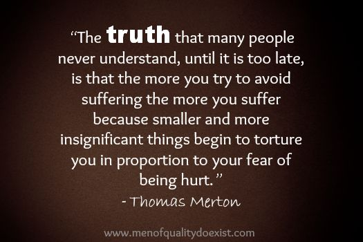Embrace the TRUTH and face your FEAR...  www.neversettleagaininlove.com